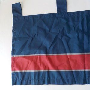 "Nautica Valance Curtain 60"" Stripes Navy Blue Red"